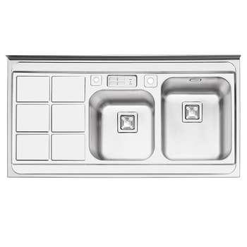 سینک ظرفشویی ایلیا استیل مدل 1065 روکار