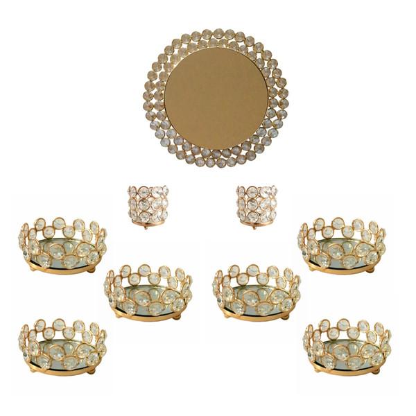 مجموعه ظروف هفت سین 9 پارچه مدل cbhftsntaji