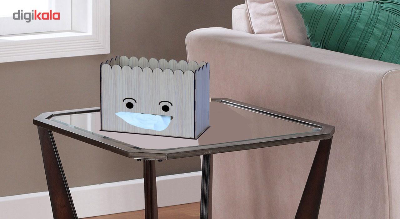 جعبه دستمال کاغذی اس ای دکور  مدل لبخند