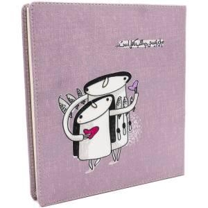 دفتر یادداشت هیدورا طرح برای زیستن دو قلب کافیست سایز بزرگ