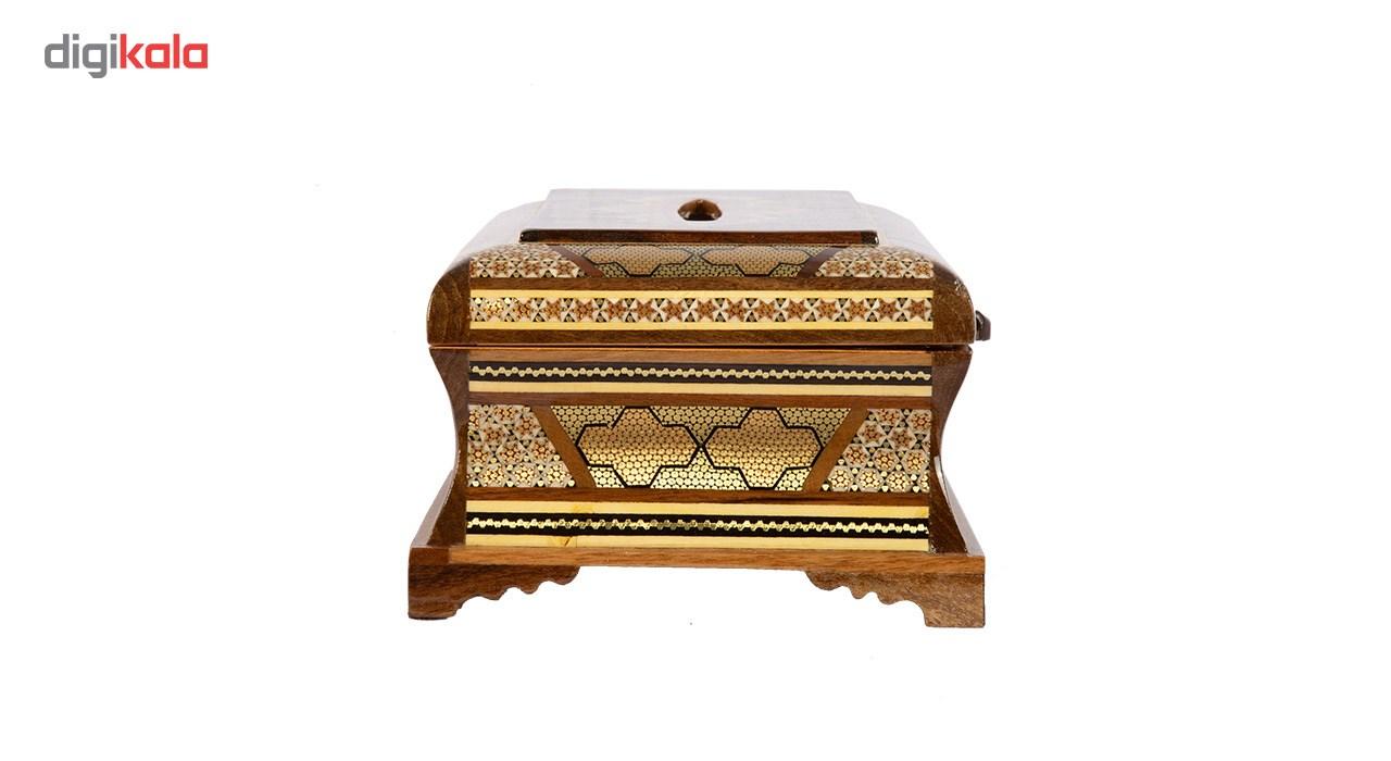 خرید                      جعبه دستمال کاغذی خاتم کاری گالری گوهران مدل آذرین کد 655