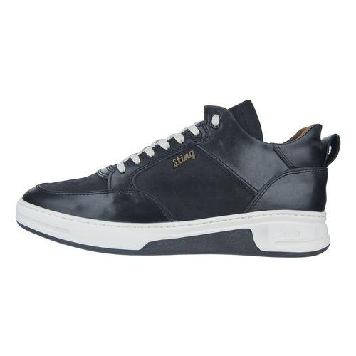 کفش مردانه چرم طبیعی استینگ مدل S1 مشکی