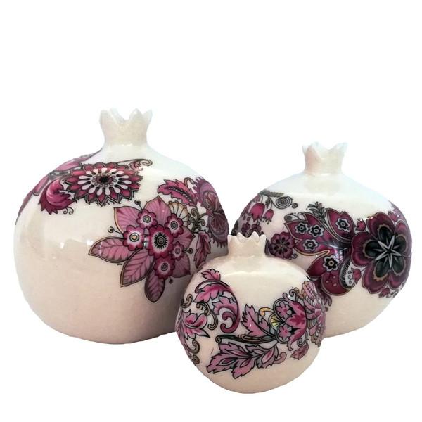 انار هنر ایرانیان طرح بته جقه بسته 3 عددی