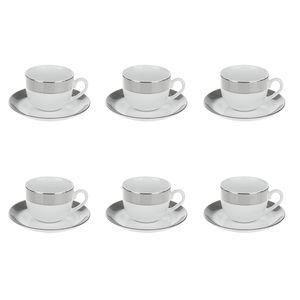 سرویس چینی 12 پارچه چای خوری چینی زرین ایران سری ایتالیا اف مدل پالادیوم درجه یک