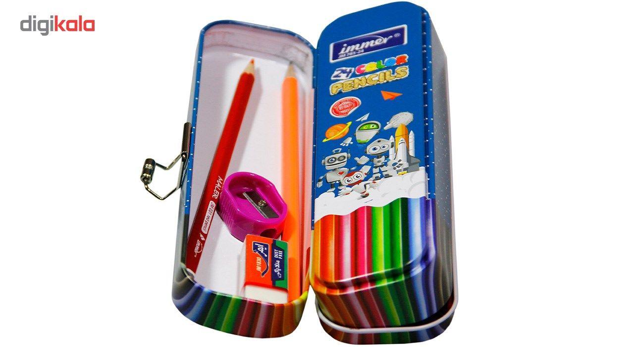 مداد رنگی 24 رنگ ایمر مدل JM 785-24 main 1 5