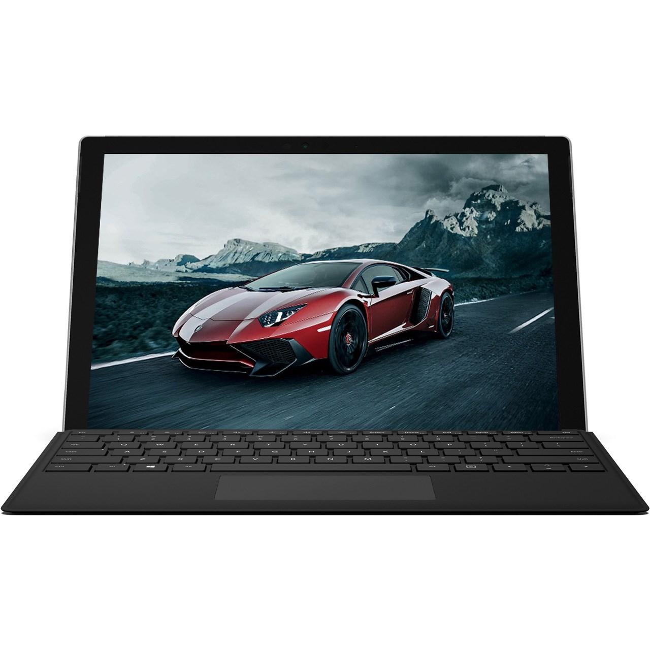 تبلت مایکروسافت مدل Surface Pro 2017 - E به همراه کیبورد Black Type Cover و کاور اس تی ام  مدل Dux