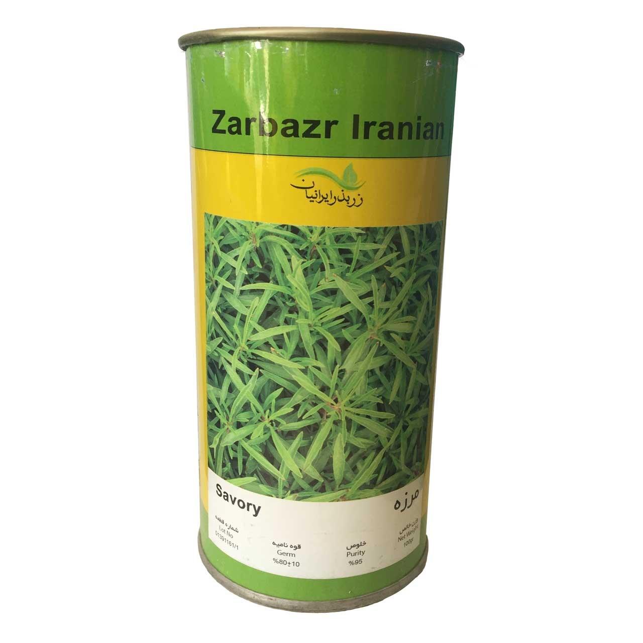 بذر مرزه زر بذر ایرانیان قوطی 100 گرمی کد GH100g-09