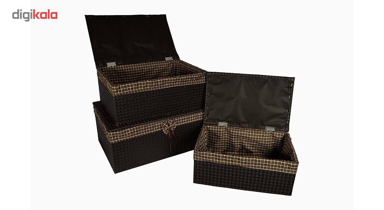جعبه ارگانایزر شایگان مدل رونیز مجموعه 3 عددی main 1 4