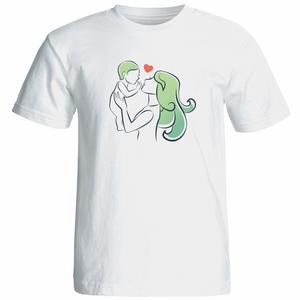 تی شرت زنانه آستین کوتاه نوین نقش طرح کد 9542