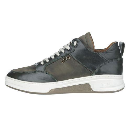 کفش مردانه چرم طبیعی استینگ مدل S1 سبز