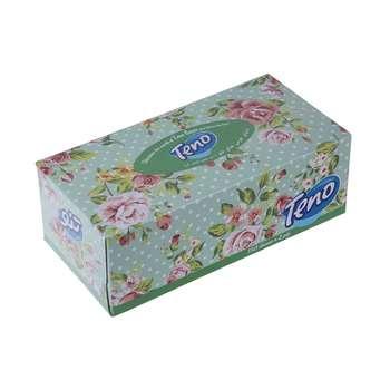 دستمال کاغذی 150 برگ تنو مدل Flowers