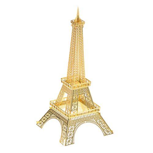 پازل سه بعدی فلزی مدل برج ایفل طلایی