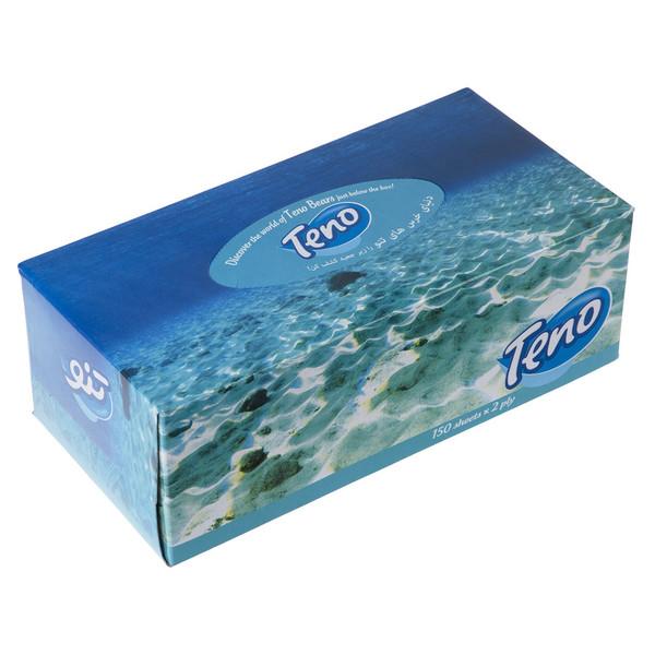 دستمال کاغذی 150 برگ تنو مدل Ocean