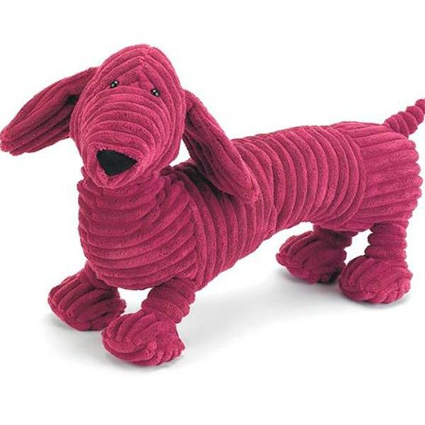 عروسک سگ پاکوتاه مخملی جلی کت سایز 4