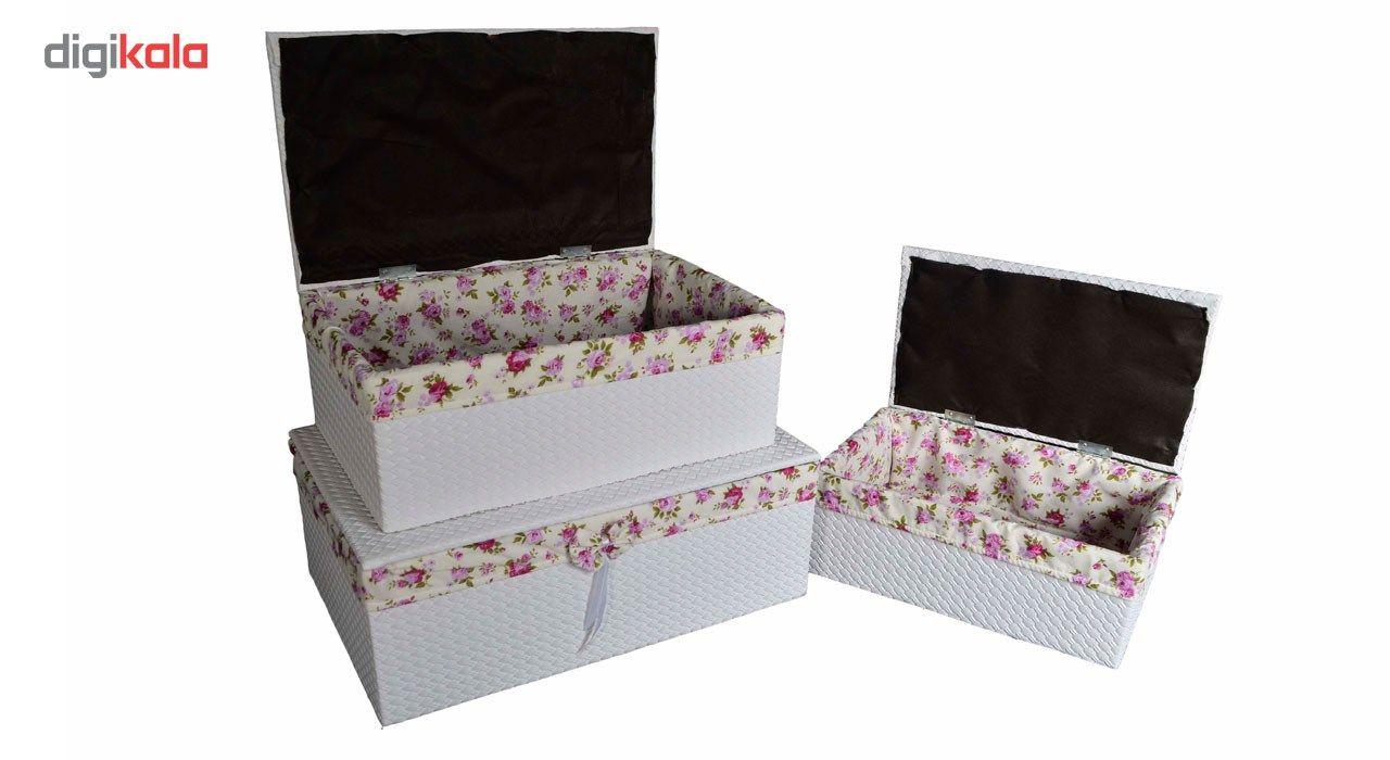 جعبه ارگانایزر شایگان مدل رونیز مجموعه 3 عددی main 1 7