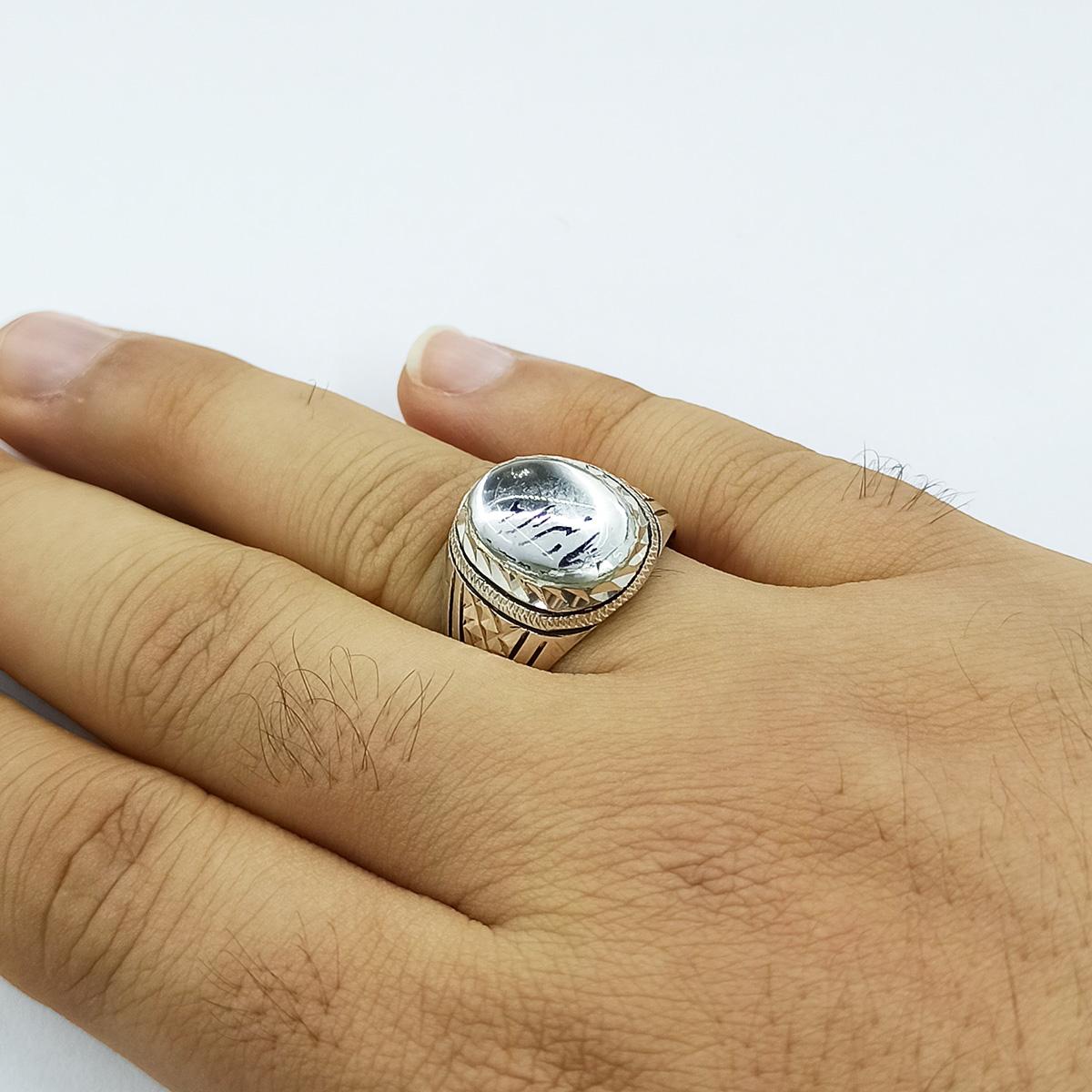 انگشتر نقره مردانه سلین کالا مدل دُر کد ce-As113