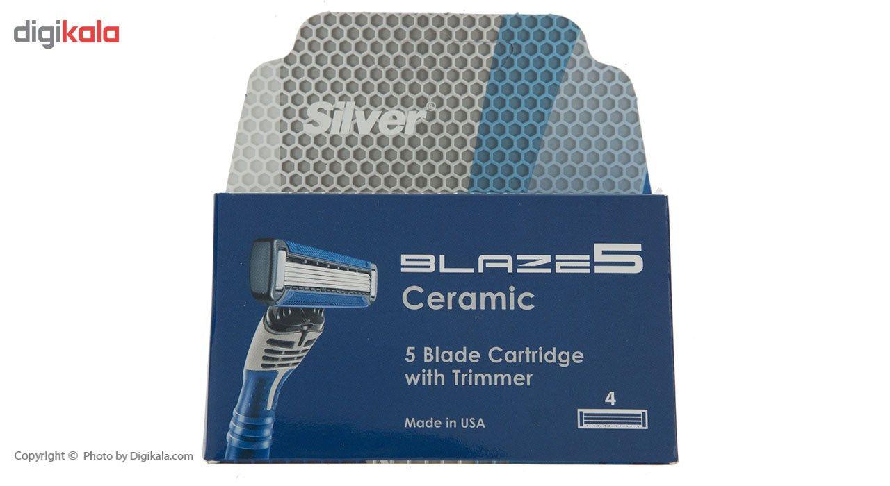 تیغ یدک سیلور مدل Blaze 5 بسته 4 عددی main 1 1