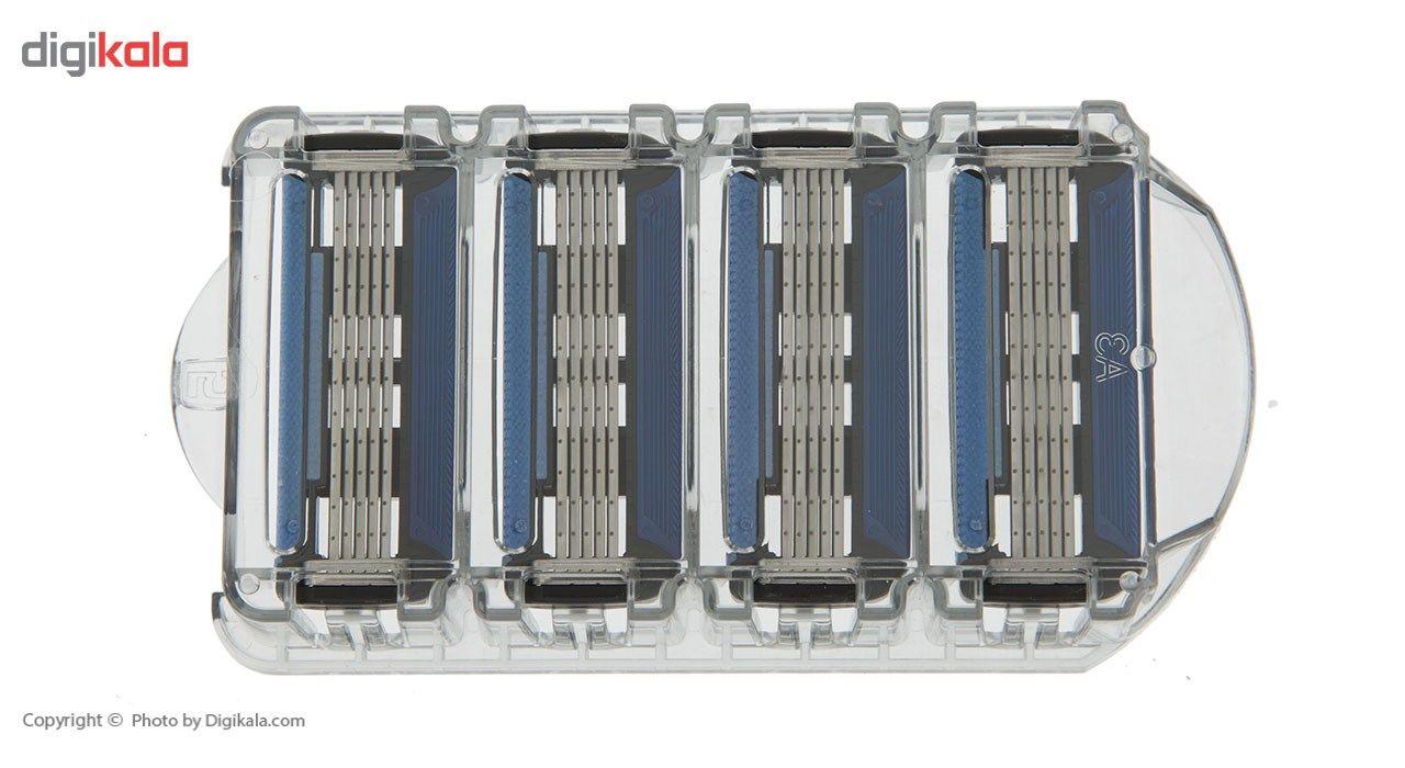 تیغ یدک سیلور مدل Blaze 5 بسته 4 عددی main 1 3