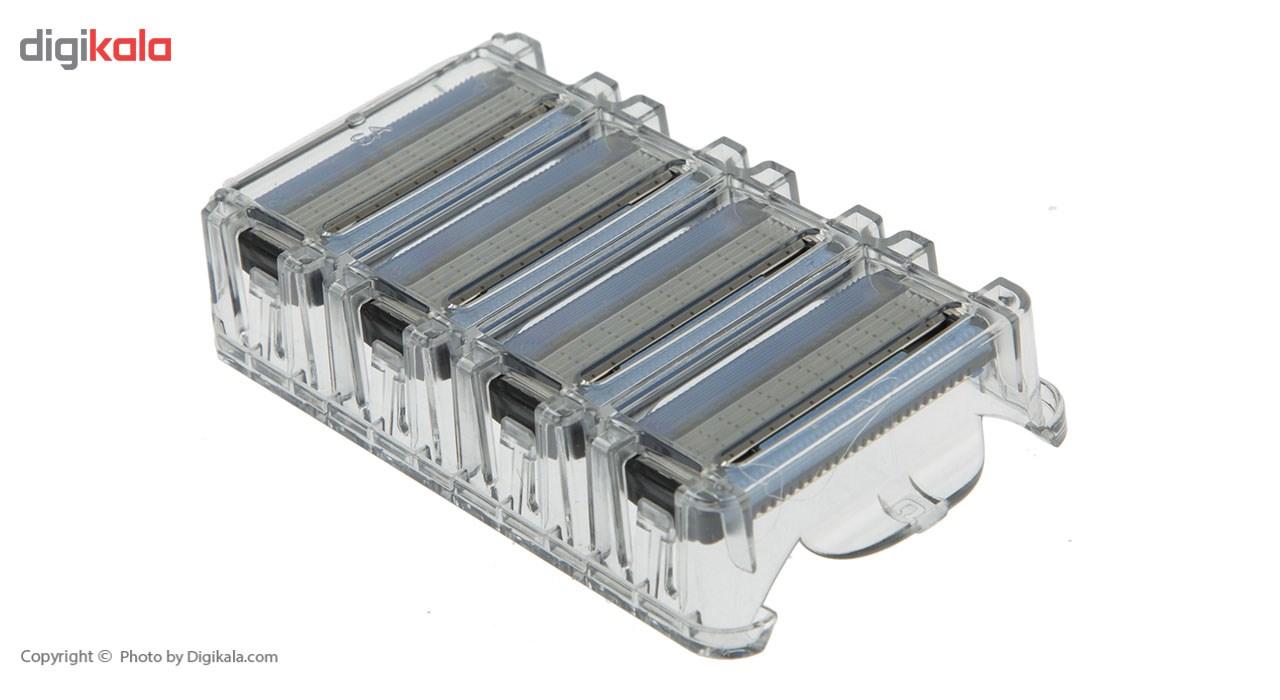 تیغ یدک سیلور مدل Blaze 5 بسته 4 عددی main 1 4