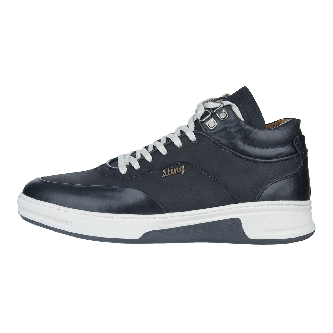 کفش مردانه چرم طبیعی استینگ مدل S2 مشکی