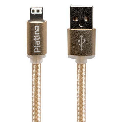 کابل تبدیل USB به لایتنینگ پلاتینا مدل Nylon به طول 3 متر