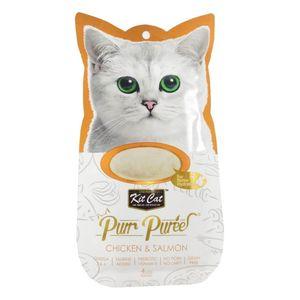 غذای گربه مدل مرغ و سالمون بسته 4 عددی