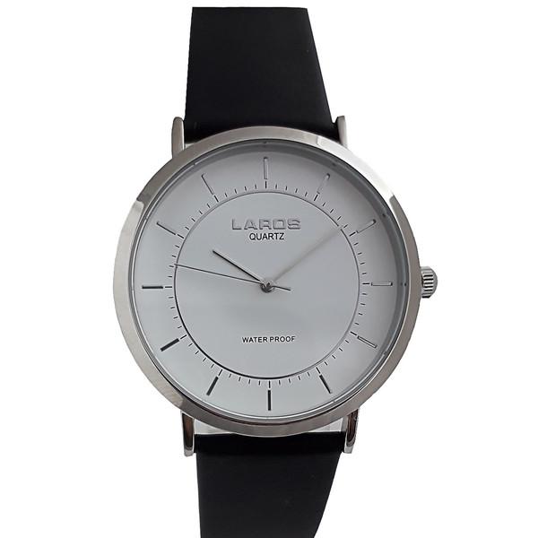 ساعت مچی عقربه ای مردانه لاروس مدل 80077Silver به همراه  جاسوییچی طرح گاز انبر مدل JK113