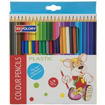 مداد رنگی 24 رنگ اسکای گلوری مدل Plastic
