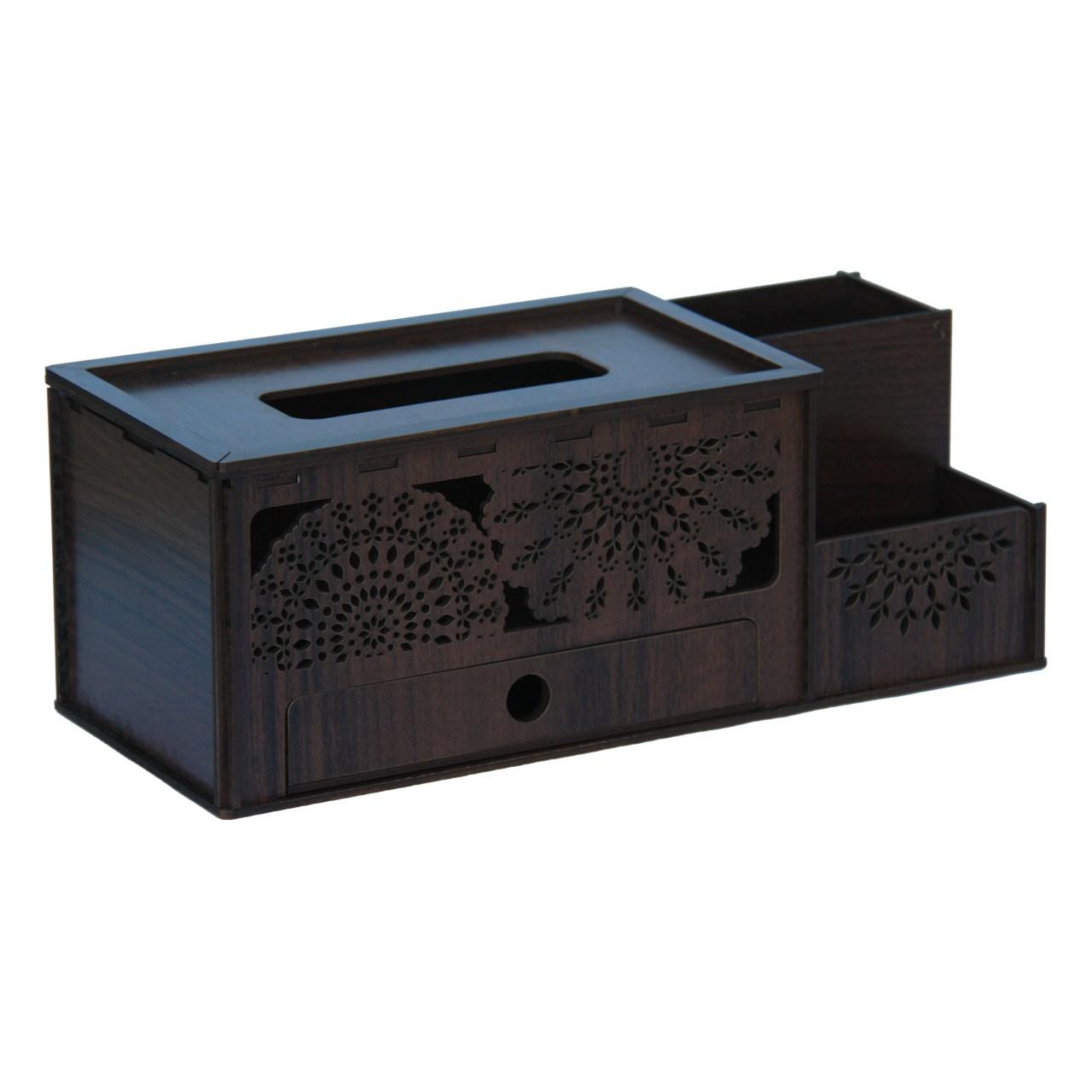 عکس جعبه دستمال کاغذی اس ای دکور  مدل j03
