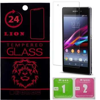 محافظ صفحه نمایش شیشه ای لاین مدل 2.5D مناسب برای گوشی سونی Z1