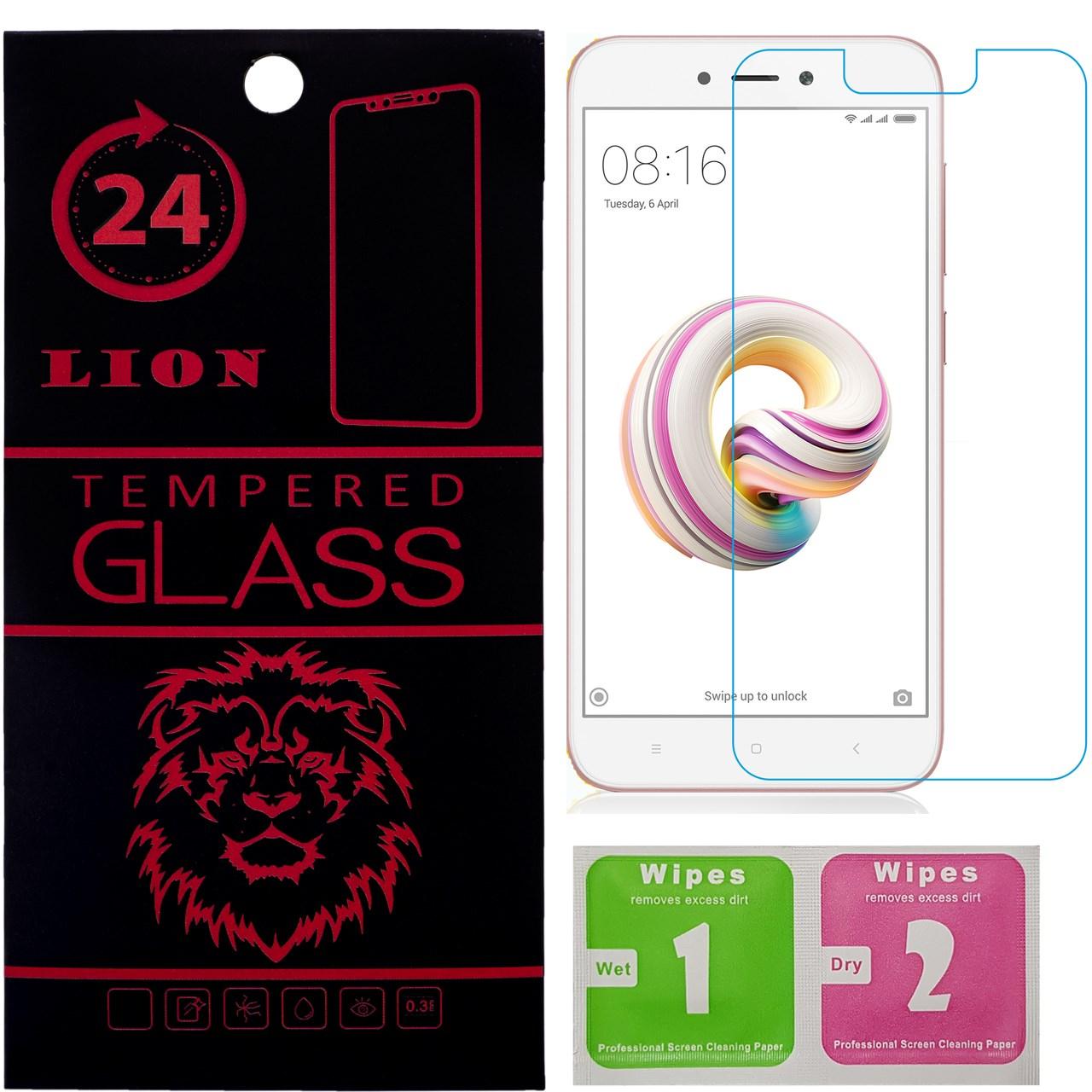 محافظ صفحه نمایش شیشه ای لاین مدل 2.5D مناسب برای گوشی شیائومی Redmi 5A