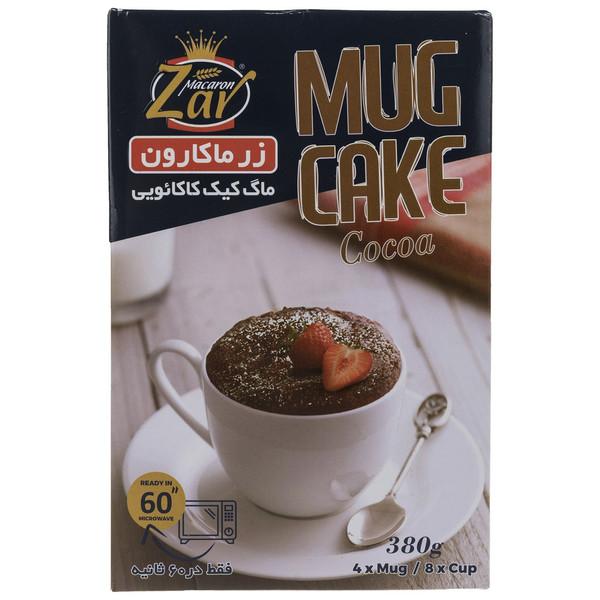 پودر ماگ کیک کاکائویی زر ماکارون مقدار 380 گرم