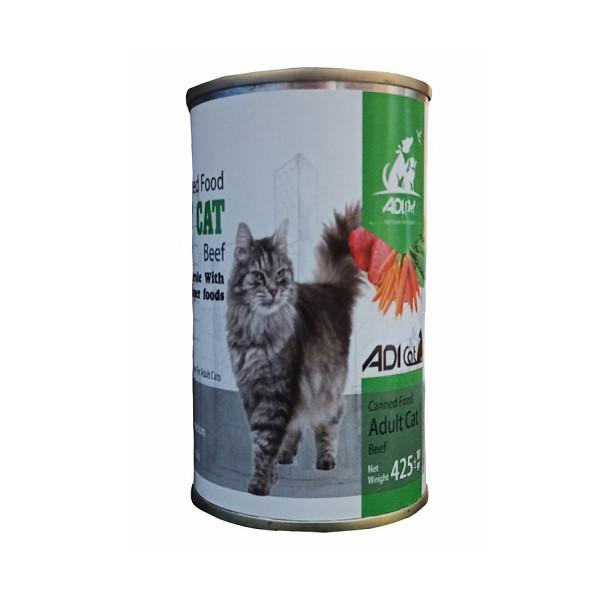 کنسرو غذای گربه آدی مدل Chicken425 وزن ۴۲۵ گرم