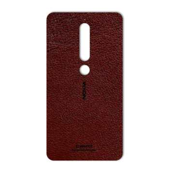 برچسب پوششی ماهوت مدلNatural Leather مناسب برای گوشی  Nokia 6.1