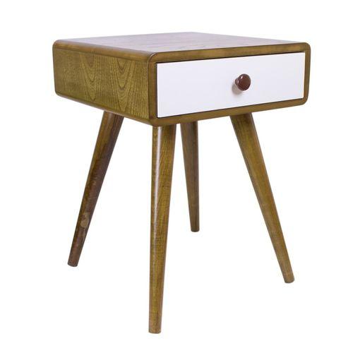 میز عسلی مدل باکس تک کشو