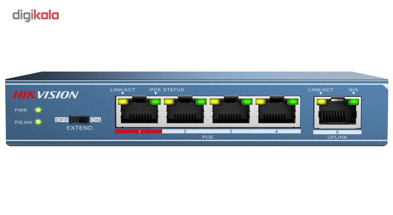 سوییچ شبکه 4 پورت هایک ویژن مدل DS-3E0105P-E