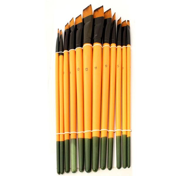 قلم مو بیانو طرح سر کج مجموعه 12 عددی