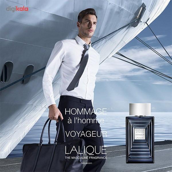 ادو تویلت مردانه لالیک مدل Hommage a l'homme Voyageur حجم 100 میلی لیتر