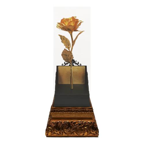 تندیس رومیزی مارک گلد مدل گل رز باز