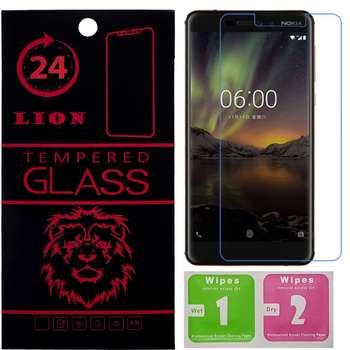 محافظ صفحه نمایش شیشه ای لاین مدل 2.5D مناسب برای گوشی نوکیا 6 2018