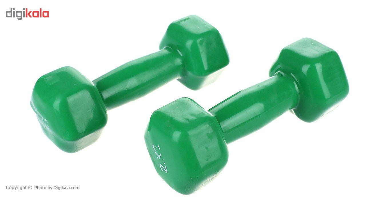 دمبل ایروبیک روکش دار 2 کیلوگرمی بسته دو عددی main 1 1