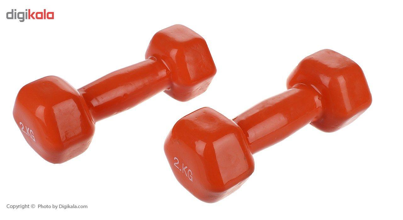دمبل ایروبیک روکش دار 2 کیلوگرمی بسته دو عددی main 1 2