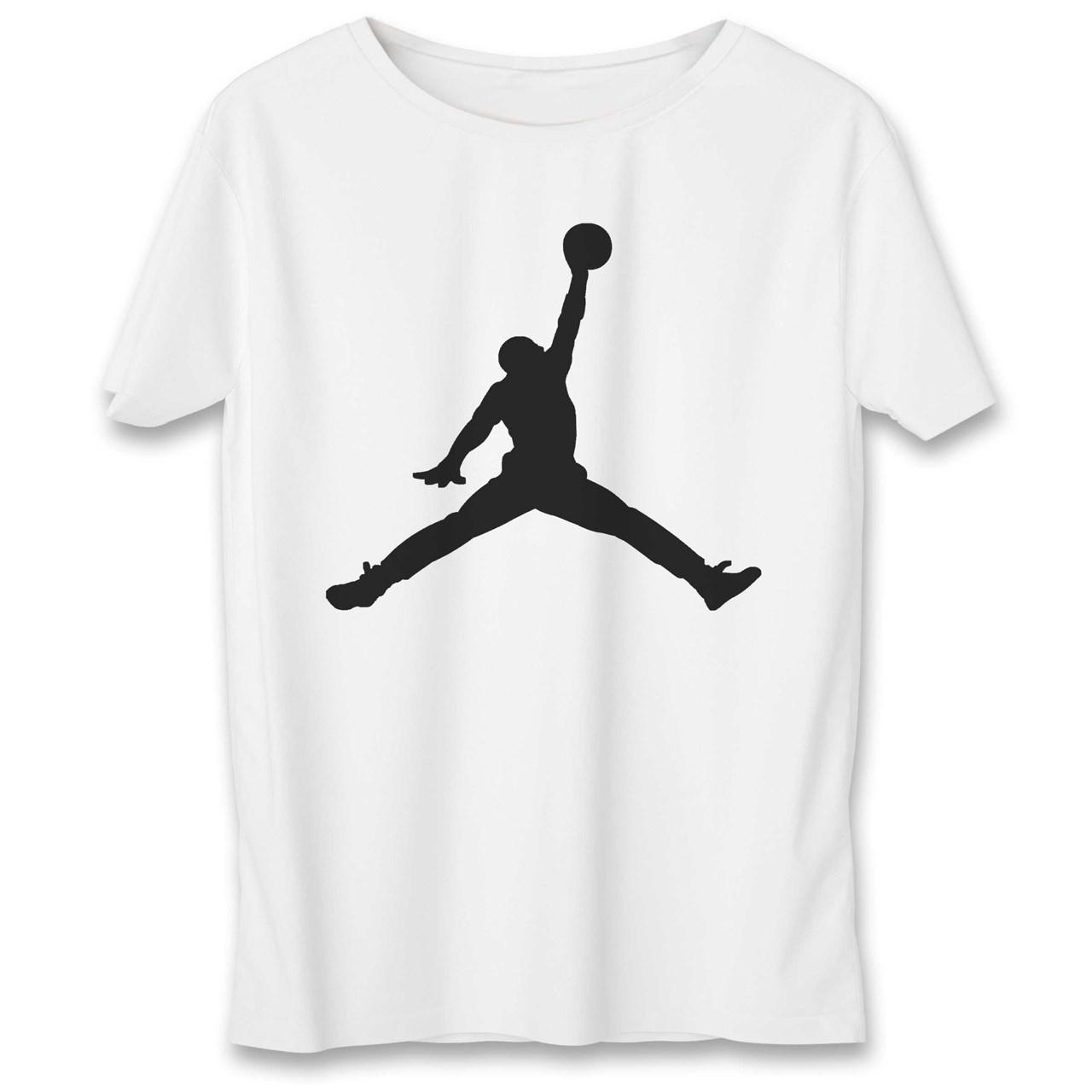 قیمت تی شرت یورپرینت به رسم طرح مایکل جردن کد 329