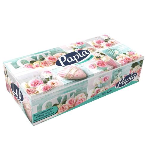 دستمال کاغذی 100 برگ پاپیا مدل Sweet