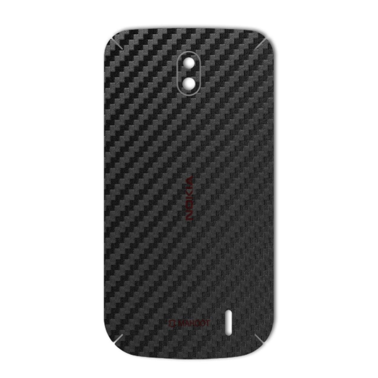 برچسب پوششی ماهوت مدل Carbon-fiber Texture مناسب برای گوشی  Nokia 1