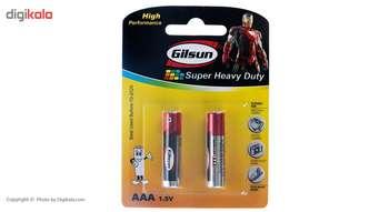 باتری نیم قلمی گیلسان مدل Super Heavy Duty  بسته 2 عددی