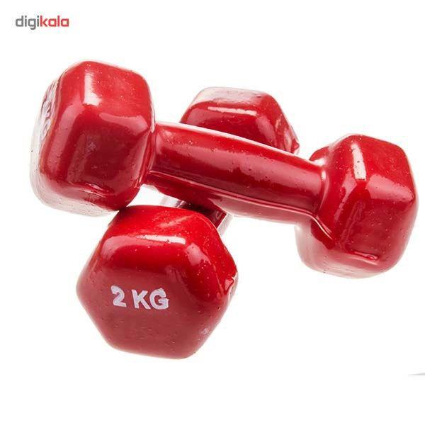 دمبل ایروبیک روکش دار 2 کیلوگرمی بسته دو عددی main 1 5