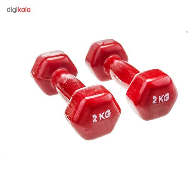 دمبل ایروبیک روکش دار 2 کیلوگرمی بسته دو عددی main 1 6