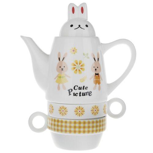 سرویس چای خوری 4 پارچه فشن اند بیوتی مدل Rabbit 002