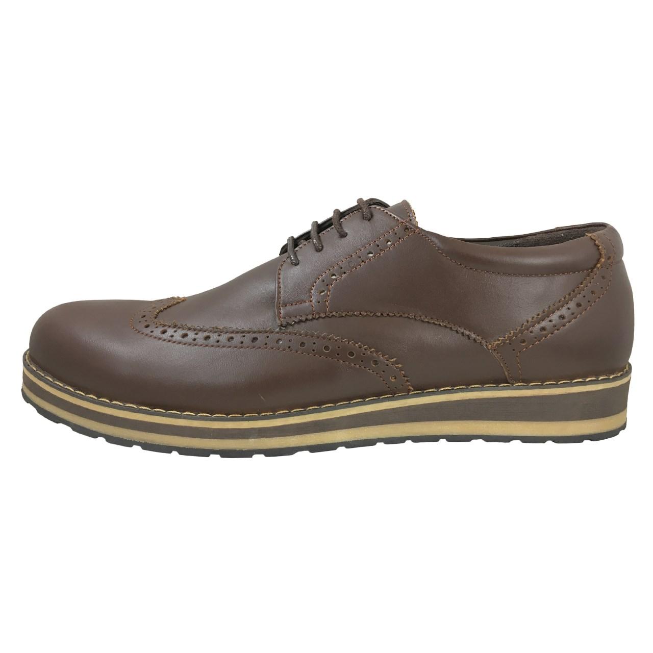 کفش چرم طبیعی مردانه نیکدل کد 2202